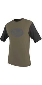 O'neill Premium Skins Grafik Kurze Ärmel Ausschlag T - Shirt Khaki / Schwarz 5077sb