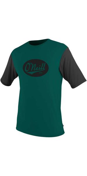2018 O'Neill Premium Skins Graphic Short Sleeve Rash Tee REEF / BLACK 5077SB