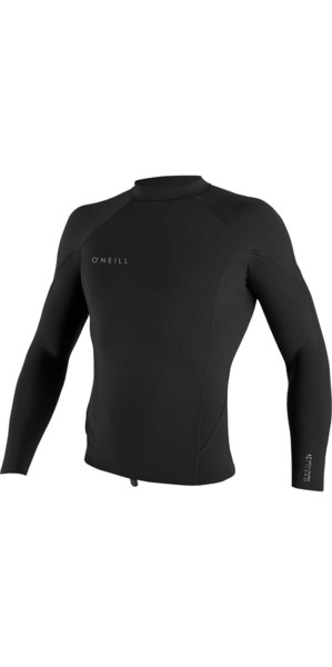 2019 O'Neill Reactor II 1.5mm Top a maniche lunghe in neoprene NERO 5080