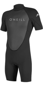 2019 O'Neill Reactor II 2 mm Back Zip Shorty Wetsuit BLACK 5041