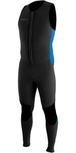 O'Neill Reactor II 2mm Neoprene Front Zip Long John Wetsuit BLACK / OCEAN 5047