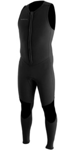 2020 O'Neill Mens Reactor II 2mm Neoprene Front Zip Long John Wetsuit 5047 - Black