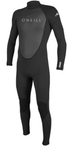 2019 O'Neill Reactor II 3/2mm Back Zip Wetsuit BLACK 5040