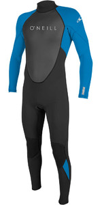 2021 O'Neill Reactor II 3/2mm Back Zip Wetsuit BLACK / OCEAN 5040