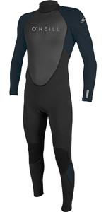 2021 O'Neill Mens Reactor II 3/2mm Back Zip Wetsuit 5040 - Black / Slate