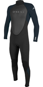 2020 O'Neill Mens Reactor II 3/2mm Back Zip Wetsuit 5040 - Black / Slate