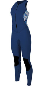 O'neill Dames Bahia 1.5mm Front Zip Long Jane Wetsuit Navy / Indigo 4860
