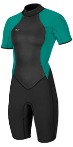 O'Neill Womens Bahia 2/1mm Back Zip Shorty Wetsuit BLACK 4858 CLEARANCE