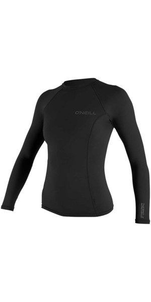 2018 O'Neill Womens Thermo-X Long Sleeve Top BLACK 5025