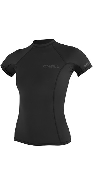 2018 O'Neill Womens Thermo-X Short Sleeve Top BLACK 5008