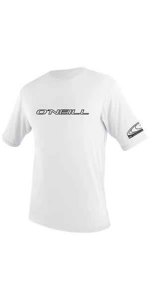 2019 O'Neill Youth Basic Skins Short Sleeve Rash Tee WHITE 3422