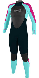 O'Neill Youth Girls Epic 3 / 2mm Bagside GBS Wetsuit SLATE / SEAGLASS / BERRY 4215G - 2.