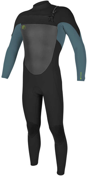 2018 O'Neill Youth O'Riginal 5 / 4mm Borst Zip Wetsuit BLACK / DUSTY BLUE / DAYGLO 4999