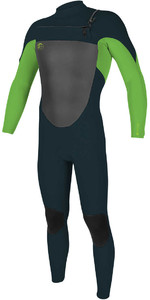 O'Neill Youth O'riginal 4/3mm Chest Zip Wetsuit SLATE / DAYGLO 5018