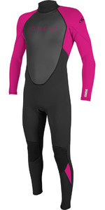 2019 O'Nill Youth Reactor II 3/2mm Wetsuit Met Back Zip Zwart / Bes 5044