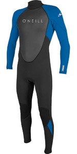 2021 O'Neill Youth Reactor II 3/2mm Back Zip Wetsuit BLACK / OCEAN 5044