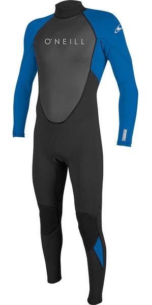 2019 O'Neill Youth Reactor II 3/2mm Back Zip Wetsuit BLACK / OCEAN 5044