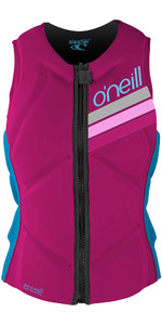 2020 O'Neill Youth Slasher Comp Impact Vest 4940geu - Berry / Navy