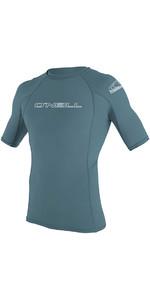 2020 O'Neill Mens Basic Skins Short Sleeve Crew Rash Vest 3341 - Dusty Blue