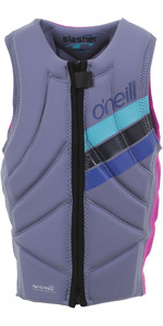 2019 O'Nill Girl's Slasher Comp Impact Vest Mist / Berry 4940geu