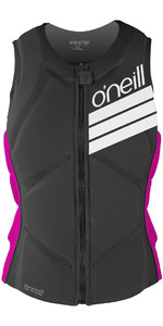O'Neill Womens Slasher Comp Impact Vest BLACK / PUNK PINK 4938EU