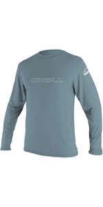 2020 O'Neill Mens Basic Skins Long Sleeve Rash Tee 4339 - Dusty Blue