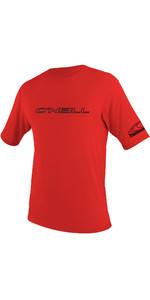 2020 O'Neill Mens Basic Skins Short Sleeve Rash Tee 3402 - Red