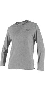 2021 O'Neill Mens Blueprint Long Sleeve UV Sun Shirt Rash Vest 5451SB - Overcast