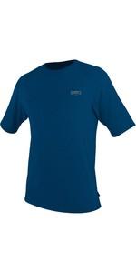 2021 O'neill Heren Blauwdruk Uv Korte Mouw Zon Shirt Lycra Vest 5450sd - Diepzee