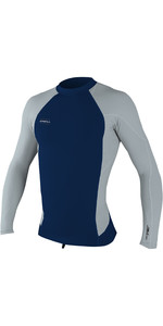 2019 O'Neill Mens Hyperfreak 0.5mm Neo / Skins Long Sleeve Top Abyss / Cool Grey 5035