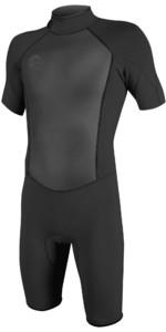 2021 O'Neill Mens O'Riginal 2mm Back Zip Shorty Wetsuit 5384 - Black