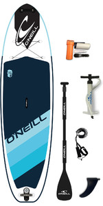 "2020 O'neill Santa Fade 10'2 X 33 "" Sup Board Gonflable, Pagaie, Sac & Laisse - Bleu"