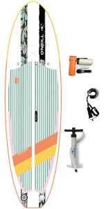"""2020 O'neill Smart S 9'4 X 32 """"kompakt Uppblåsbar Sup Board , Väska & Koppel - Blommor"""