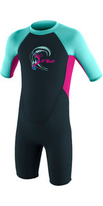 2021 O'Neill Toddler Reactor 2mm Back Zip Shorty Wetsuit Slate / Berry / Seaglass 4867
