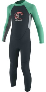 2021 O'Neill Toddler Reactor 2mm Back Zip Wetsuit 4868 - Slate / Cool Grey / Seaglass