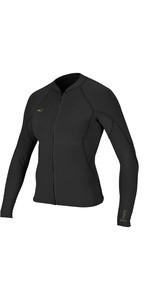 2019 O'Neill Womens Bahia 1mm Full Zip Long Sleeve Neoprene Jacket Glide Black 4933