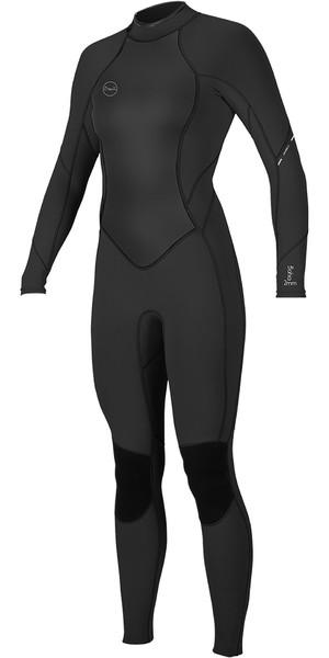 2019 O'Neill Womens Bahia 3 / 2mm back Zip Wetsuit zwart 5292
