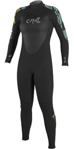2021 O'Neill Womens Epic 3/2mm Back Zip GBS Wetsuit 4213 - Black / Baylen