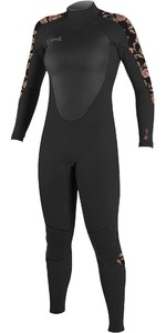 2021 O'Neill Womens Epic 3/2mm Back Zip GBS Wetsuit 4213B - Black / Flo
