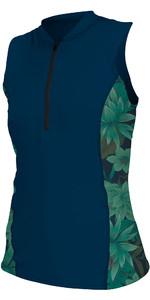 2019 O'neill Damen Front Zip Cap Sleeve Sun Shirt Abyss / Faro 5307s