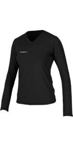 2019 O'Neill damesshirt met lange mouwen en lange mouwen, zwart 5320, van O'Neill