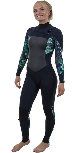 2019 O'Neill Womens O'Riginal 4 / 3mm Peito Zip Wetsuit Abyss / Faro 5015