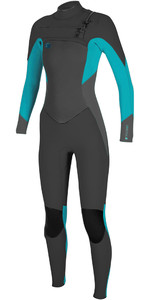 2019 O'Neill Womens O'Riginal 3 / 2mm Borst Zip Wetsuit Abyss / Faro 5014