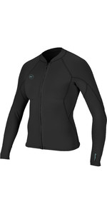 2020 O'Neill Womens Reactor II 1.5mm Front Zip Neoprene Jacket Black 5294