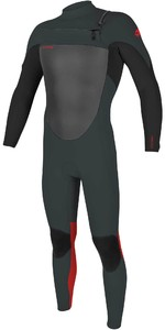 2020 Traje De Neopreno O'neill Youth Epic 4/3mm Chest Zip Gbs 5358 - Gunmetal / Negro / Rojo