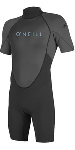 2021 O'Neill Youth Reactor II 2mm Back Zip Shorty Wetsuit 5045 - Black / Graphite