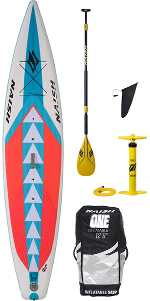 "2018 Naish One ALANA SUP Aufblasbare Stand Up Paddle Board 12'6 ""inkl. PADDEL, TASCHE & PUMPE"