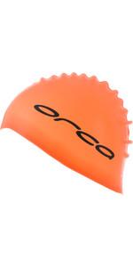 2021 Orca Silicone Swim Cap DVA00050 - Orange