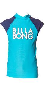Billabong Junior Waschen Weg Kurzarm Rash Weste In Fidschi Blau P4ky09