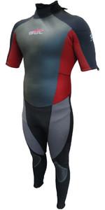 GUL Profile 3/2mm Short Sleeved GBS Wetsuit Black / Slate / Red PR2201 - 2ND